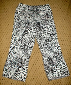 Girls Brand New Black and White Animal Print Pants 4T