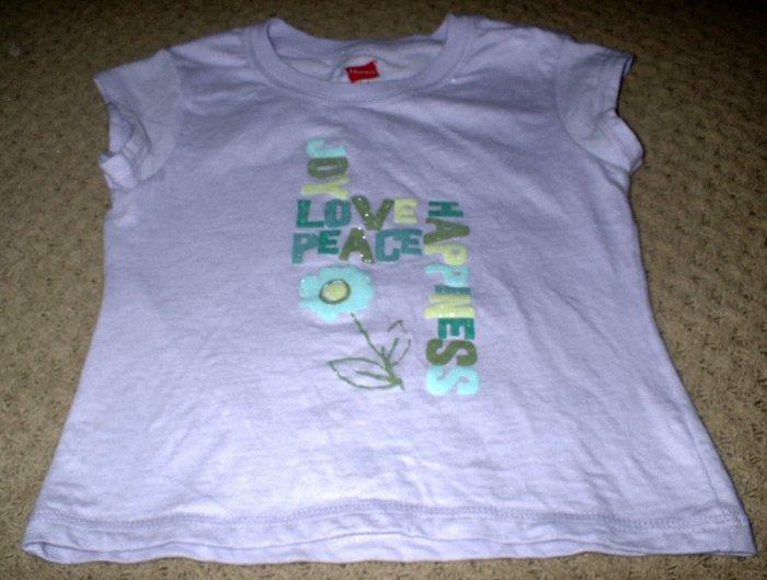 Girls Joy Love Peace Happiness Shirt Size 4 5