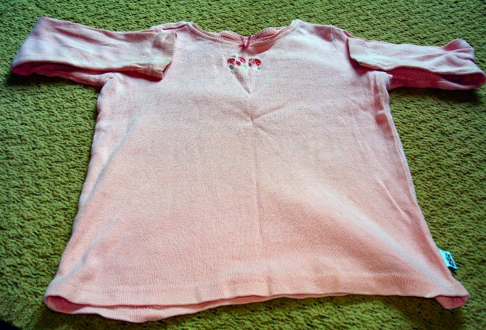 Girls Long Sleeve Pink Shirt with Embroidery 4T
