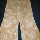 Girls Gold Paisley & Heart Print Corduroy Jeans Size 5