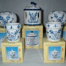 Blue Delft Candle Holder 5 pc Lot      CL1