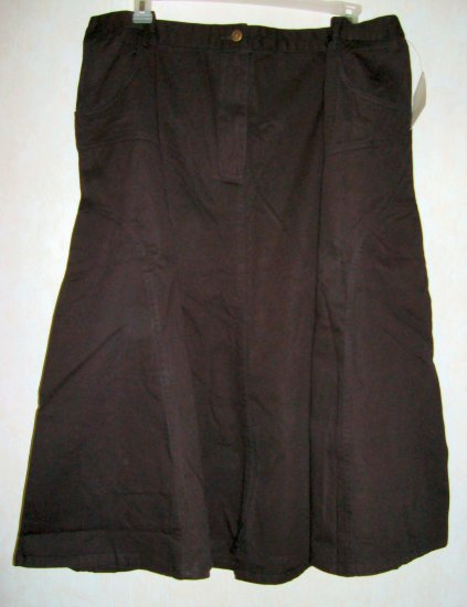 NWT Roamans Lane Bryant Black Skirt 5X 38W