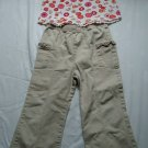 Girls 4T White Tank with Flowers
