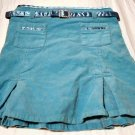 Girls Blue Skirt with Satin Belt Size 6 6X