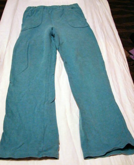 Girls Teal Blue Wide Leg Pants Size 5T