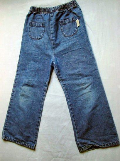 Girls Round Pocket Blue Jeans 5T