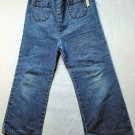 Girls Round Pocket Blue Jeans 5T