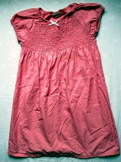 Girls Pink Polka Dot Dress Size 6