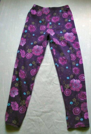 Girls Flower Print Leggings Size 8