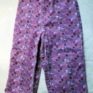 Girls Purple Print Capris Size 5