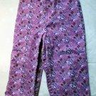 Girls Purple Print Capris Size 5