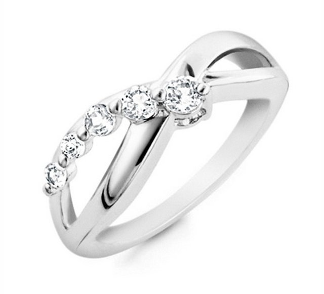 INFINITY LOVE KNOT HEART CZ Sterling Silver Promise Ring With FREE SHIPPING