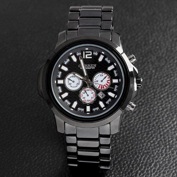 The men's fashion calendar waterproof strip Wristwatches