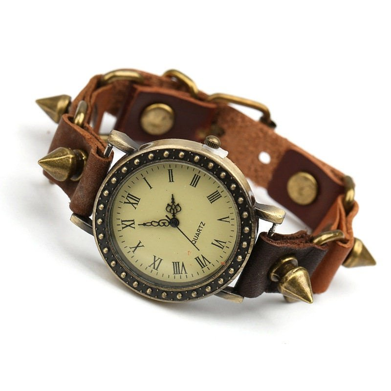 New Fashion Handmade Leather Bracelet Watch