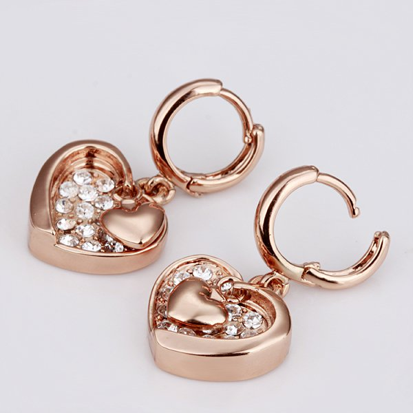 18K Real Gold Earrings Fashion Jewelry