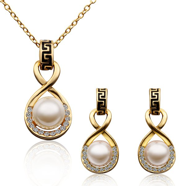 S322 Fashion Nickel and lead free mixed styles 18k gold plating jewelry set