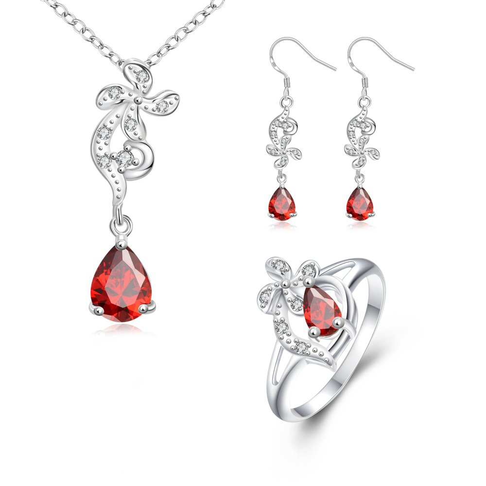 S123-B Fashion popular silver plated jewelry sets for sale free shipping