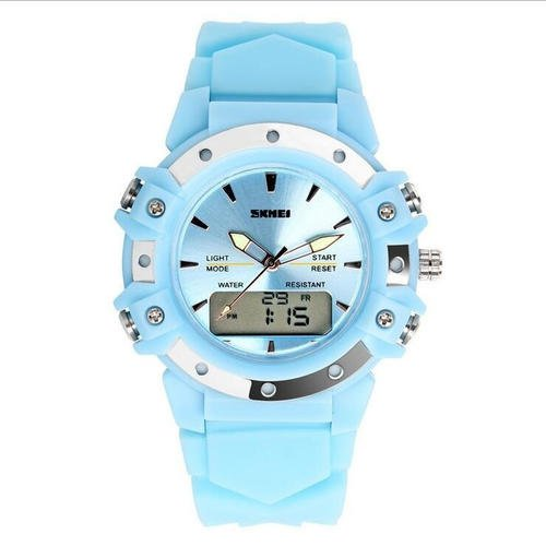 Luxury Brand Sports Quartz Watch Dual Time Digital Women Fashion Wristwatches  Skmei