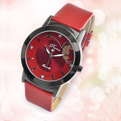Fashion Luxury Lady Wristwatch  Red
