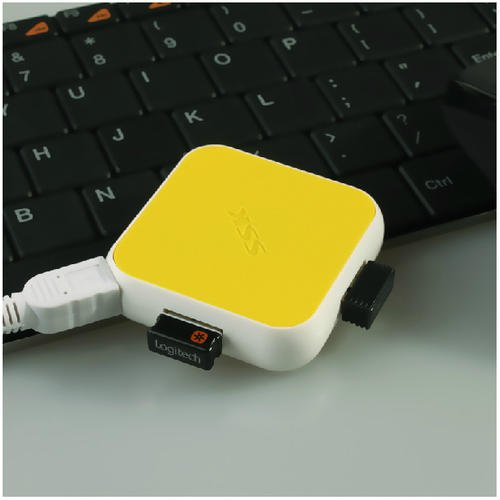 High-Speed Computer USB HUB Four Splitter Yellow