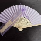 Free Shipping 20Pcs/Lot Plain Purple Paper Hand Fans for Wedding 21cm with Organza Gift Bag