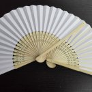 20Pcs/Lot 21cm White Wedding Paper Fans Paper Fans for Party Decorations Personalized Paper Fans