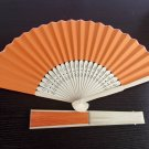 20Pcs/Lot 21cm Orange  Wedding Paper Fans Paper Fans for Party Decorations Personalized Paper Fans