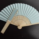 20Pcs/Lot 21cm Baby Blue Wedding Paper Fans Paper Fans for Party Decorations Personalized Paper Fans
