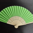 20Pcs/Lot 21cm Green Wedding Paper Fans Paper Fans for Party Decorations Personalized Paper Fans