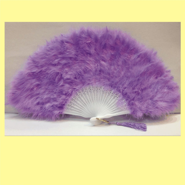 Purple Marabou feather fan costumes Ladies Fancy Dress Wedding party burlesque
