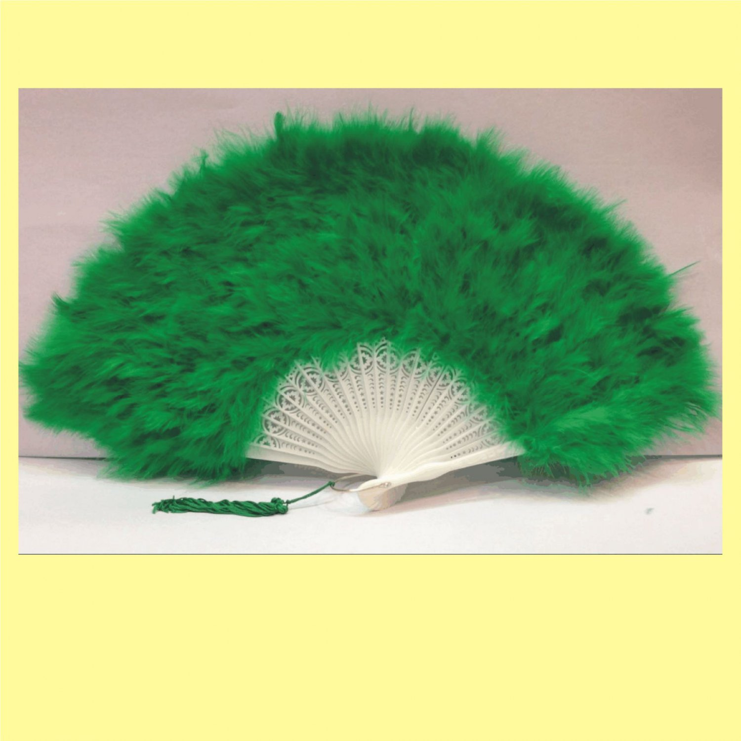 Forest Green  Marabou feather fan costumes Ladies Fancy Dress Wedding party burlesque