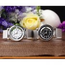 Women Lady Fashion Stainless Steel Mesh Analog Bracelet Stainless Wrist Watch FE