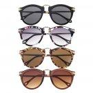 Women's Unisex Mens Sunglasses Arrow Style Eyewear Round Sunglasses Metal Frame