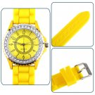Silicone Crystal Quartz Men Ladies Jelly Wrist Watch Stylish Fashion Luxury FE