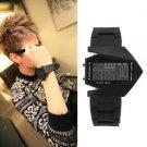 Light Digital Sports Quartz Silicone Fashion LED Wrist Watch Men's Boy's Watch F