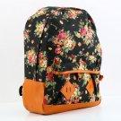Vintage Women Girl Canvas Flower Floral Bag Schoolbag Travel Backpack  FE