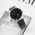 PU Leather Stainless steel Quartz Roman numeral Couple Wrist watch man FE