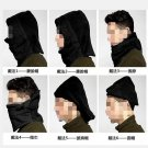SNOOD 4 in 1 Winter warmer Fleece Mens scarf BLACK Hood Balaclava Neck Face Mask