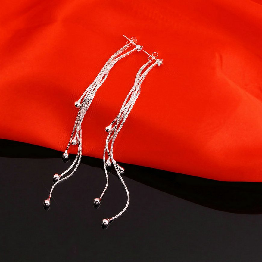 1 Pair Fashion Women Girl Long Tassels Earrings Rhinestone Ear Studs New FE