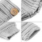 New Women Winter Thick Fingerless Mittens Knitted Warm Wrist Arm Long Gloves FE