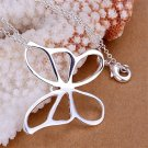 Fashion Jewelry Silver Butterfly Pendant Gift DIY Accessory Women's Gift FE