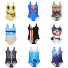 Sexy Women's Swimwear Digital Printing One-Piece Bikini Swimsuit Beachwear FM