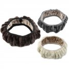 Charm Warm Winter Short Wool Plush Steering Wheel Cover for Car  FE