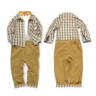3Pcs Toddler Baby Boys Dress T-shirt Shirt Pants Set Kids Clothes Outfits FE