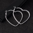 1 Pair Fashion Women's Big Heart Hoop Dangle Earrings Stud Jewelry New FE