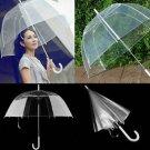 Fashion Transparent Clear Automatic Umbrella Parasol For Wedding Party Favor FE