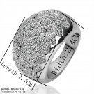 Women's Fashion Carved Antiallergic Alloy Platinum Plated Ring Wedding FE