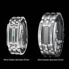 Luxury Men Women Waterproof Stainless Steel Date Digital Binary LED Watches FE