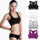 Women Seamless Racerback Sports Bra Top Yoga Fitness Padded Stretch Workout #Ank