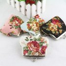 Women's Rose Pattern Mini Coin Purse Cotton Printed Bag Wallet Pocket  FE